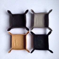 Leather Tray - small square