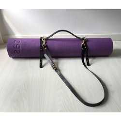 Yoga Mat Strap - Black Leather