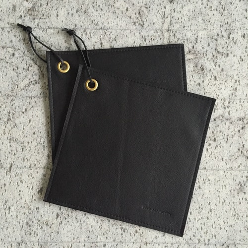 Hot Pads - Black Leather (set of 2)