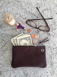 VIP iPhone Wallet - Bordeaux Basket Weave