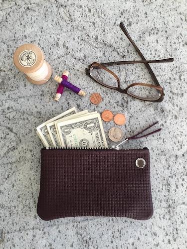 VIP iPhone Wallet - Bordeaux Basket Weave