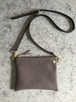 VIP Shoulder Bag - Taupe perforated & Taupe leather