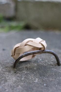 Tan Braided Leather Bracelet