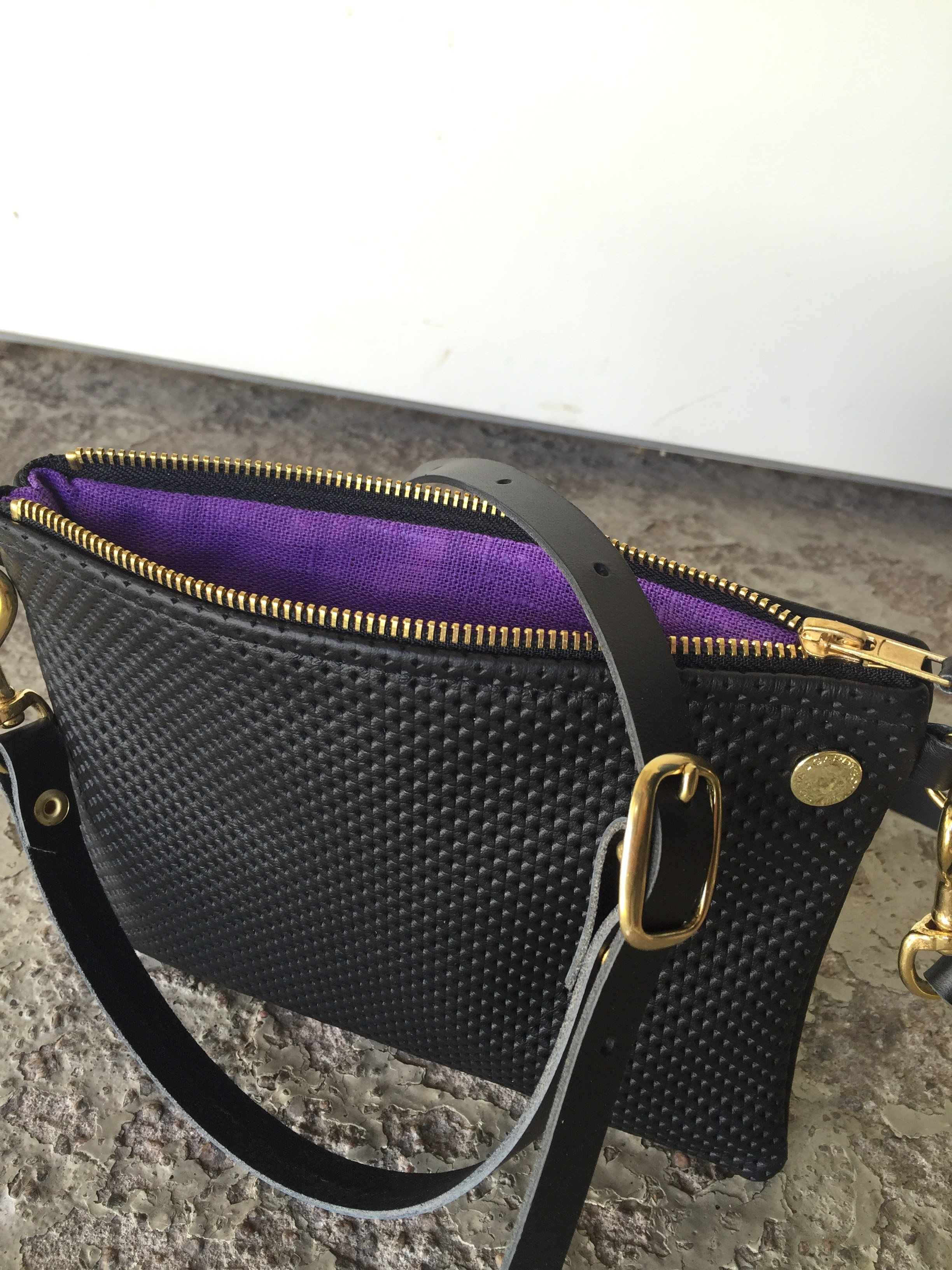 VIP Shoulder Bag - Black Perforated & Black