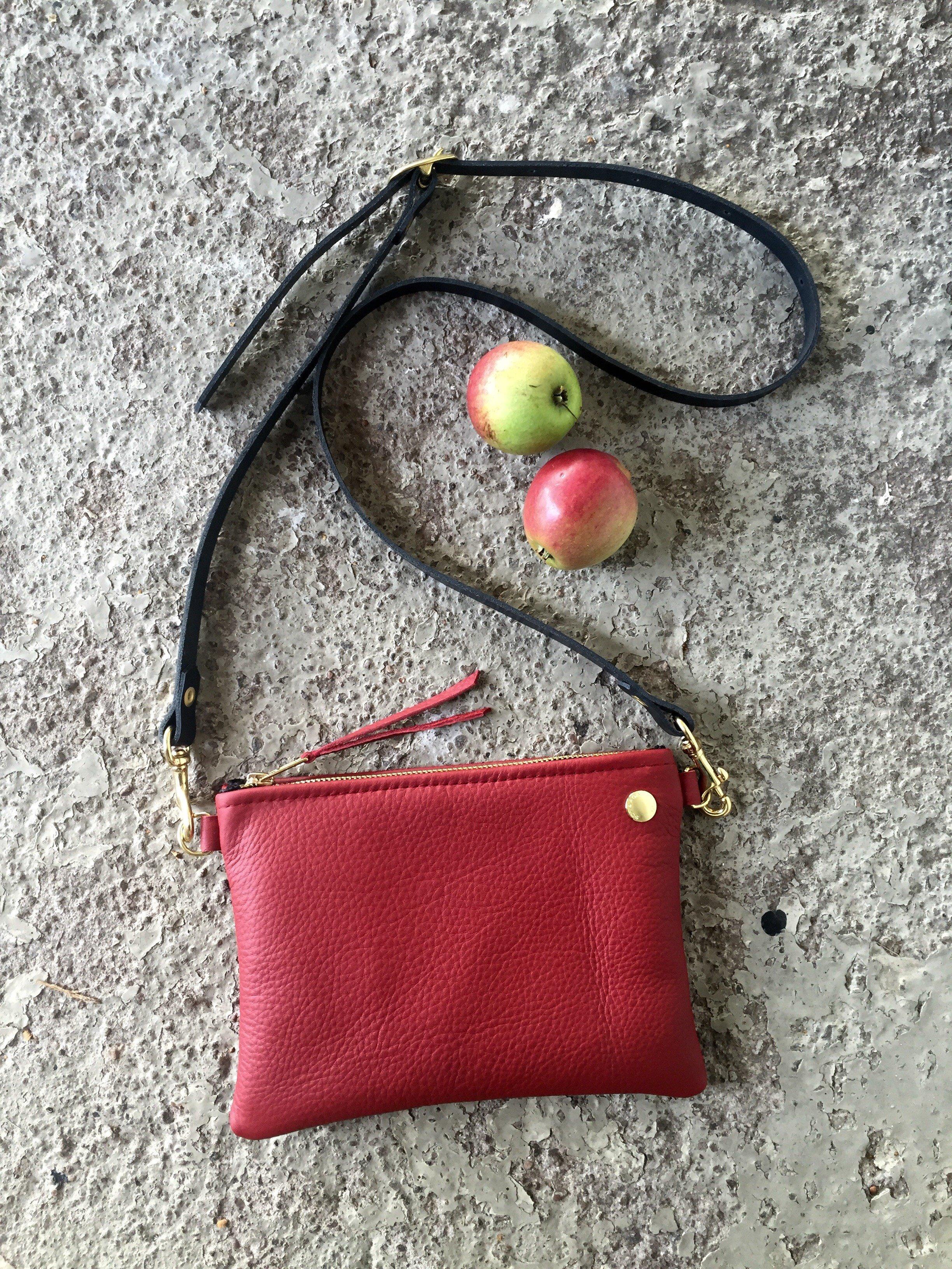 VIP Shoulder Bag - Dark Red & Black