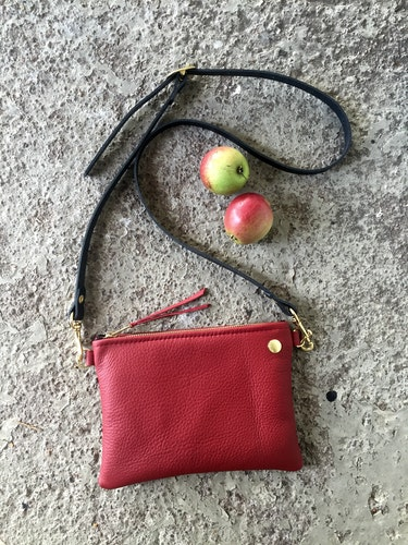 VIP Shoulder Bag - Dark Red & Black