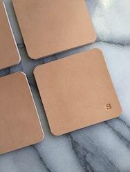 Leather Coasters - glasunderlägg i läder