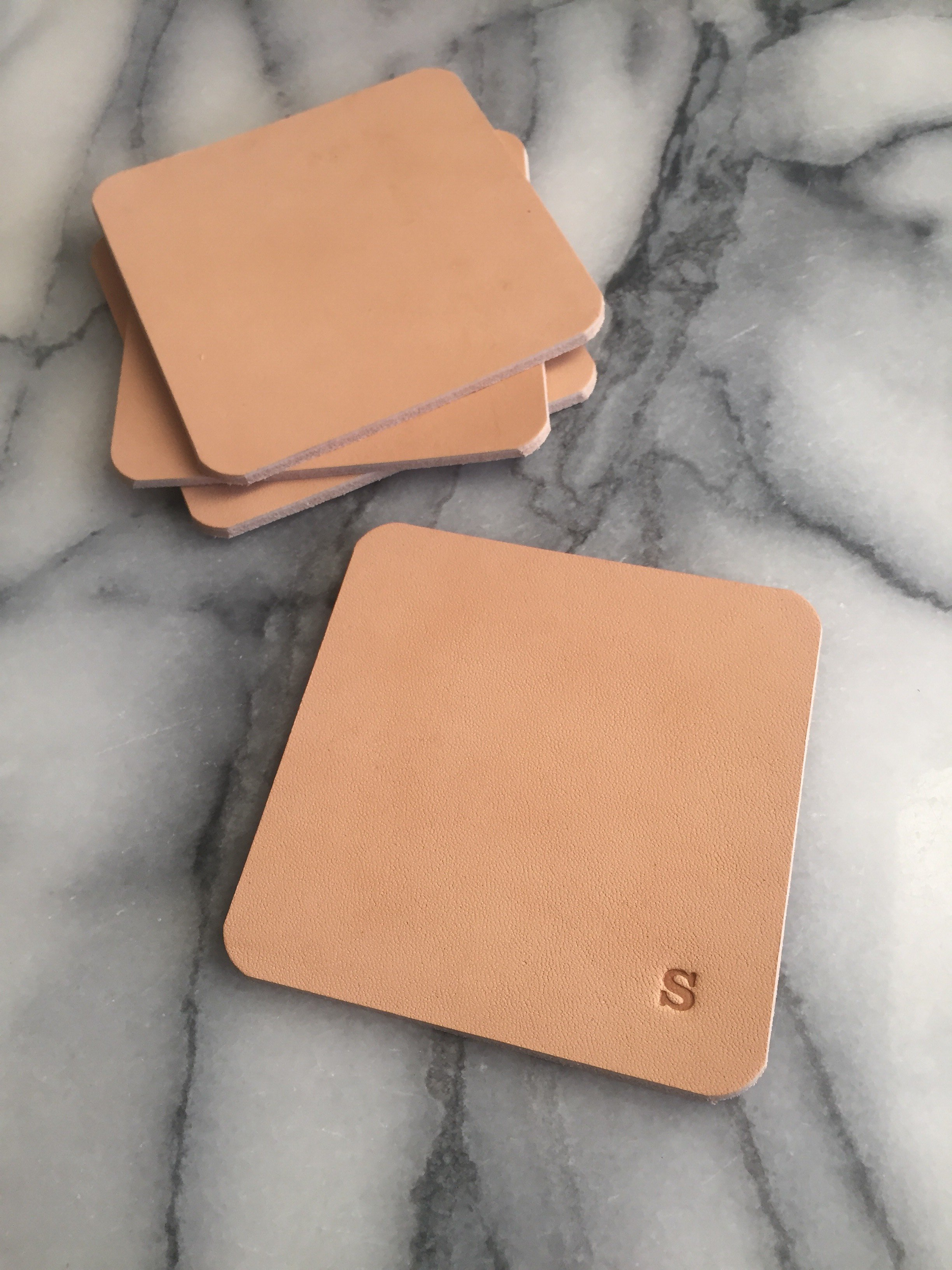 Leather Coasters - glasunderlägg i läder