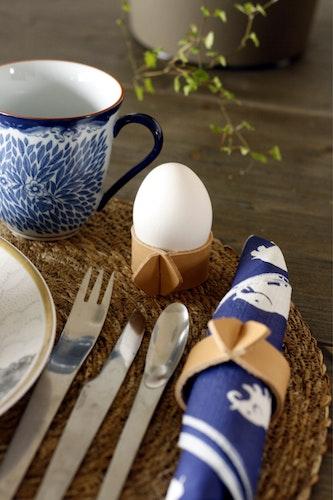 Egg Cup / Napkin Holder - Äggkopp / Servettring i läder