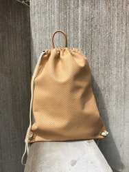 Leather Backpack - Nude