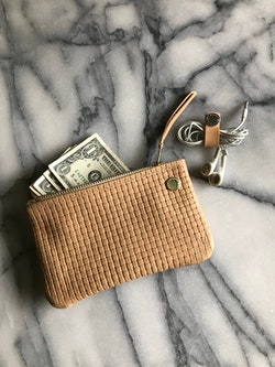 VIP iPhone Wallet - Nude Basket Weave