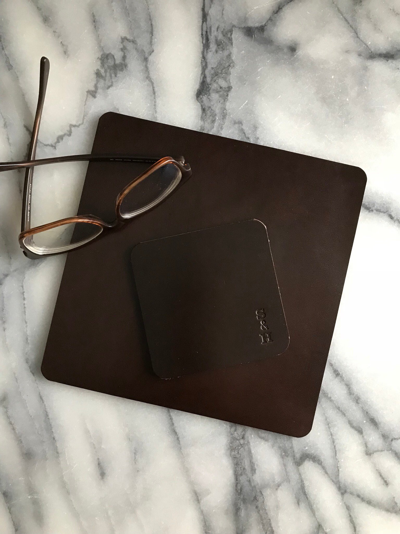 Leather Mouse Pad Brown - Musmatta i läder