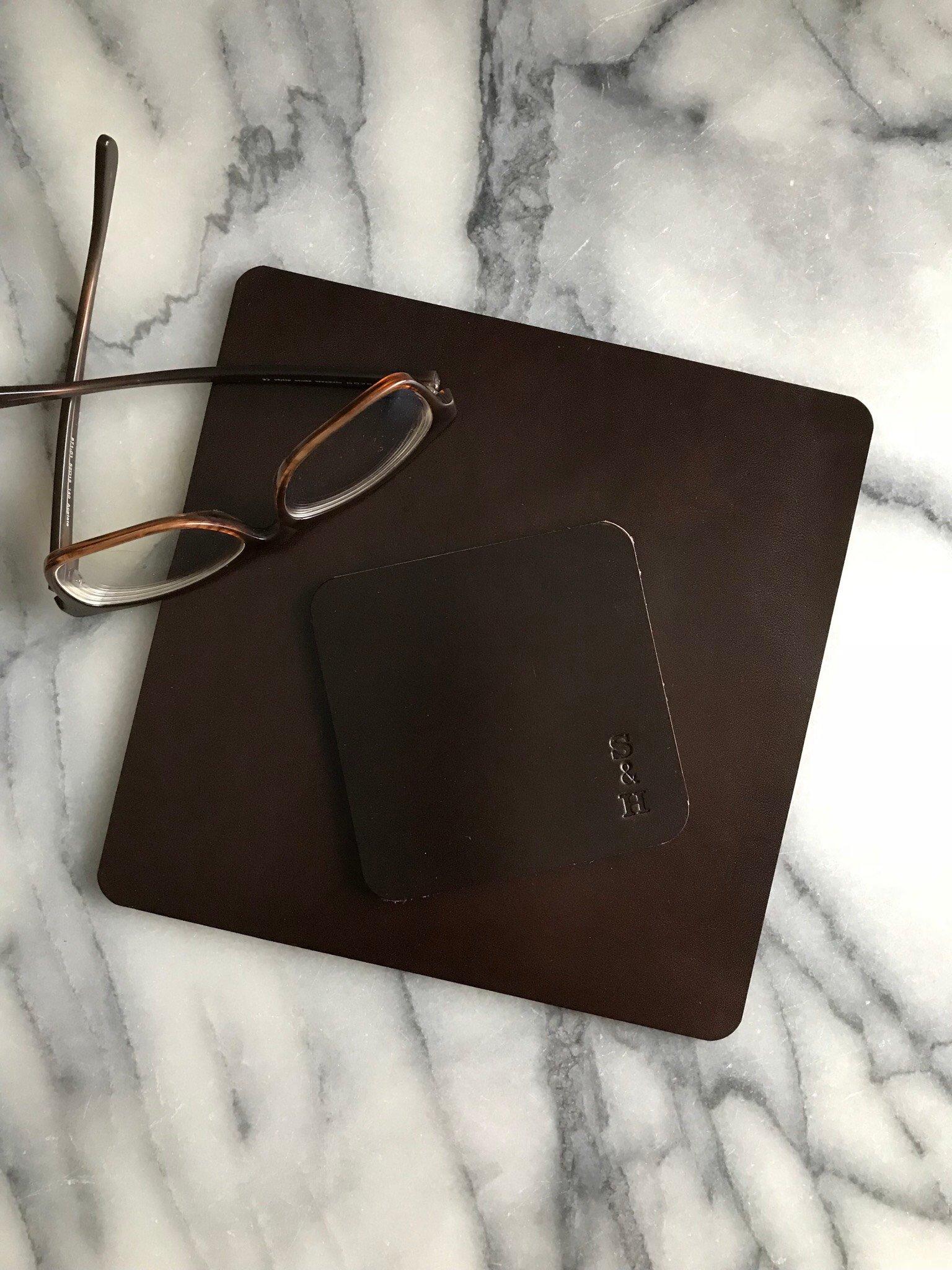 Leather Mouse Pad Brown - Musmatta i läder