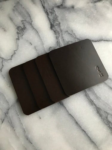 Leather Coasters Brown - Glasunderlägg i läder