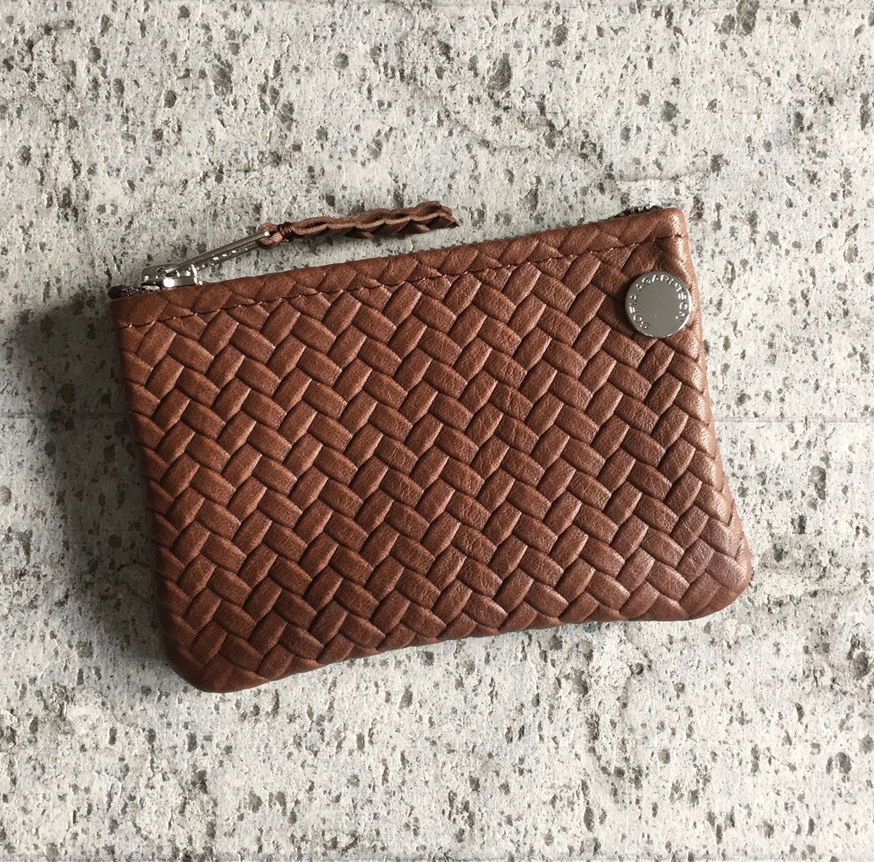 VIP Wallet - Herringbone Leather