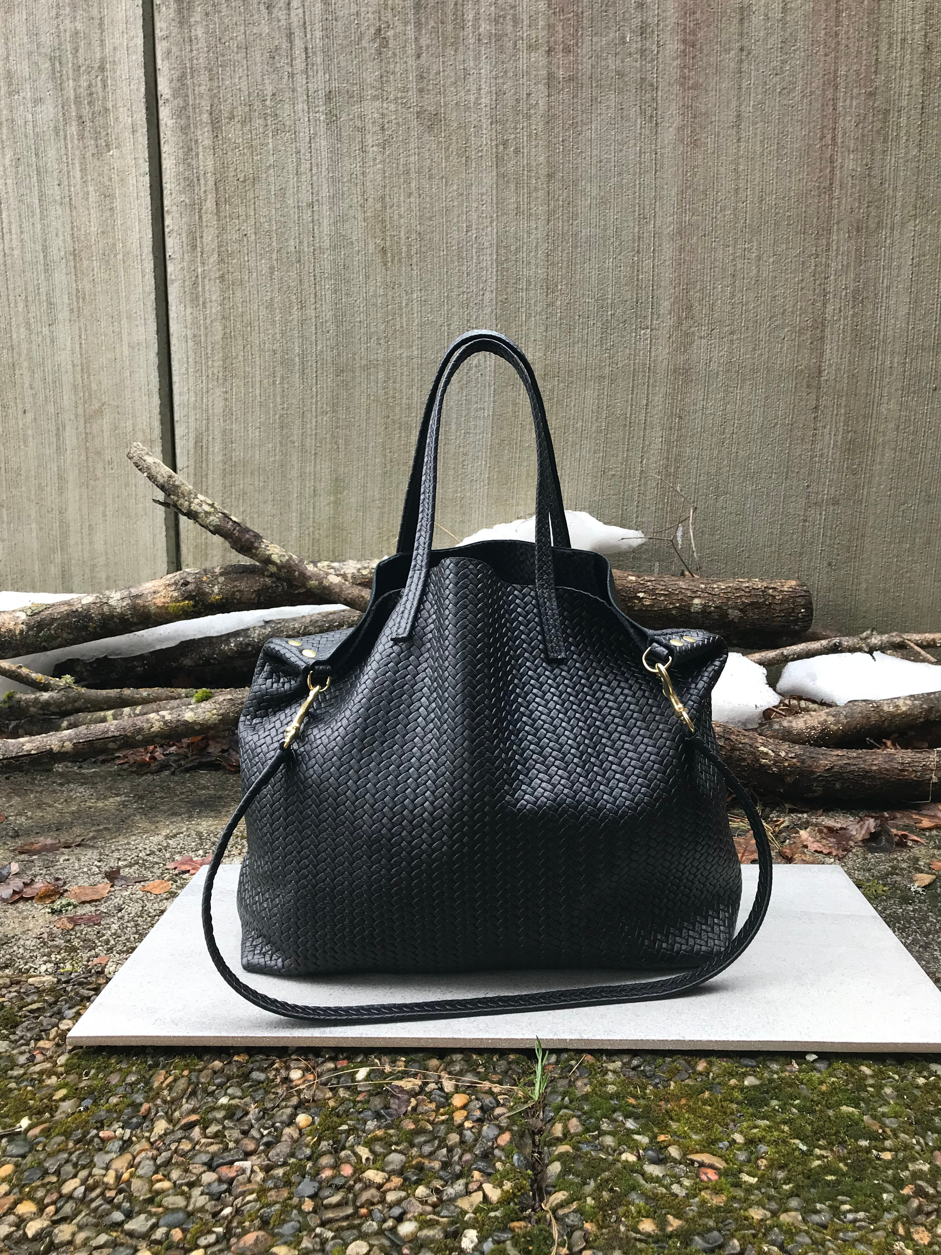New Tote Bag - Herringbone Leather