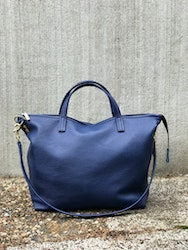 New Tote Bag w/ Zipper - Blue