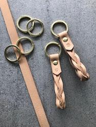 Keyring Braid - Flätad nyckelring i läder