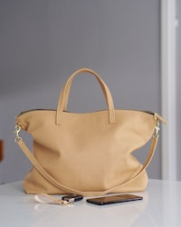 New Tote Bag - Nude Perforated & Brass
