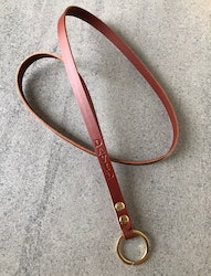 Leather Key Strap - Nyckelband i läder med personlig text