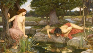 ECHO OCH NARCISSUS av JOHN WATERHOUSE