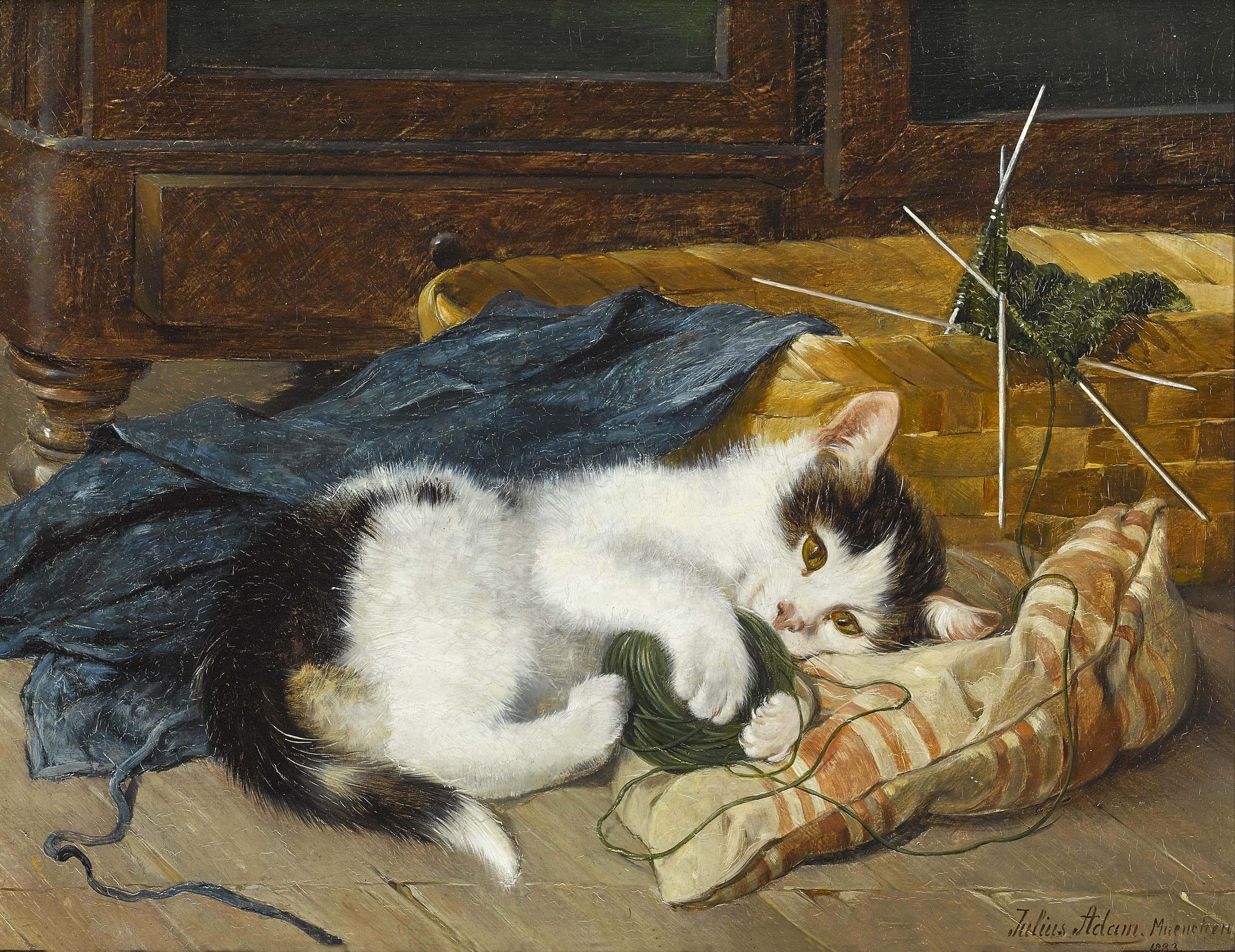 KATTUNGE STICKAR 1883 av JULIUS ADAM