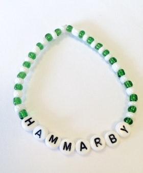 Armband HAMMARBY/BAJEN/FORZA BAJEN/GRÖNT OCH VITT