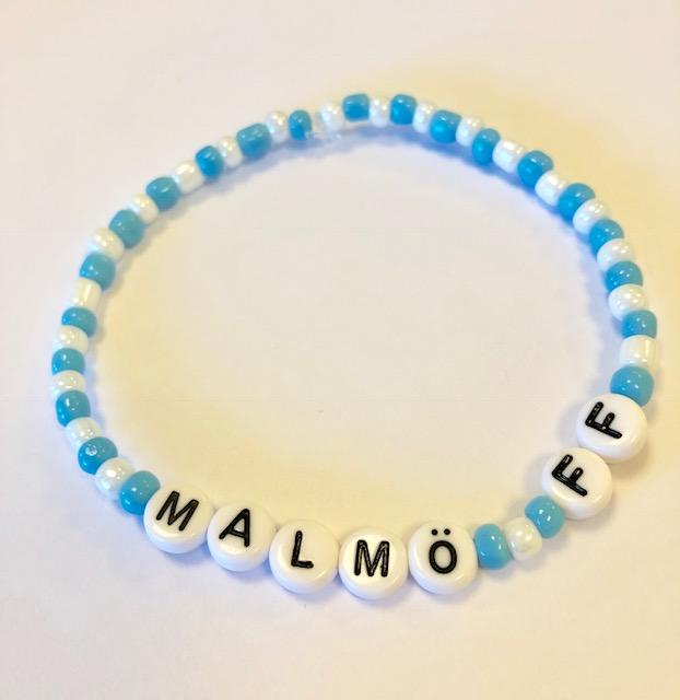 Armband MALMÖ FF/MFF med hjärta