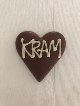 """Hjärta av mjölkchoklad """"KRAM"""""""