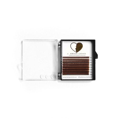 Ljusbruna volymfransar 0.07mm