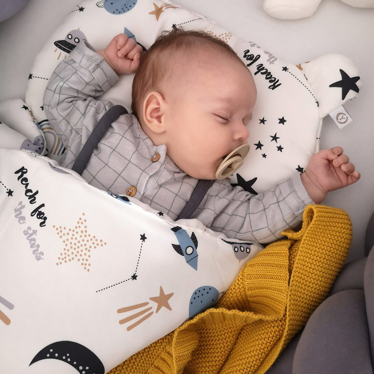 YOSOY Bambutäcke till nyfödd 65x75cm, Moons