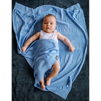 Pulp Bambu Baby filt, blå Elefanter
