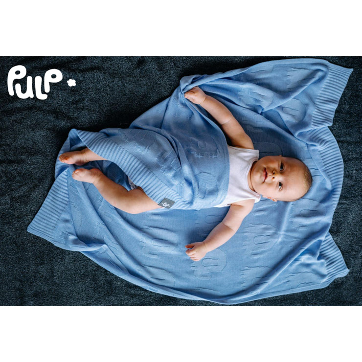 Pulp Bambu Baby filt, blå Elefanter - Elliotti