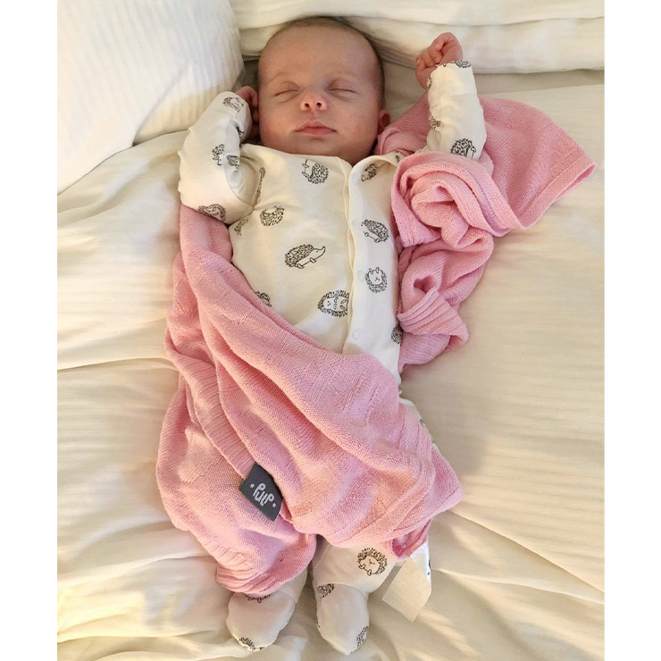 Pulp Bambu Baby filt, rosa Elefanter - Elliotti
