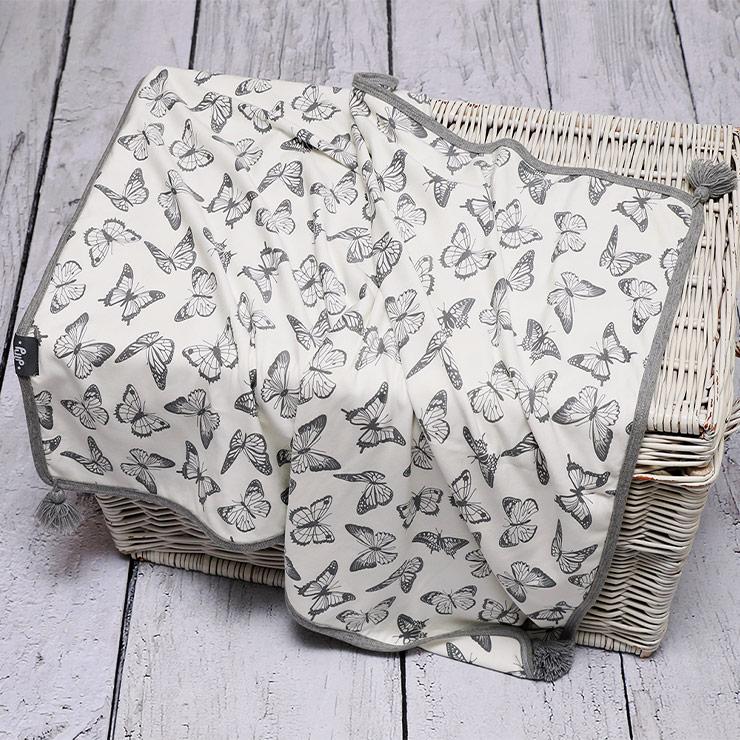 Pulp Bambu tvåsidig filt, Butterflies - Elliotti