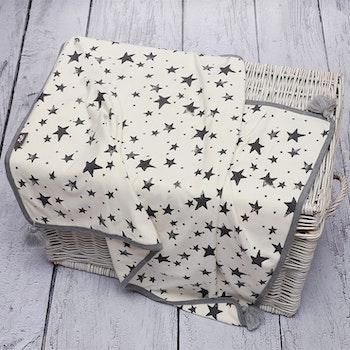 Pulp Bambu tvåsidig filt, Grey Stars