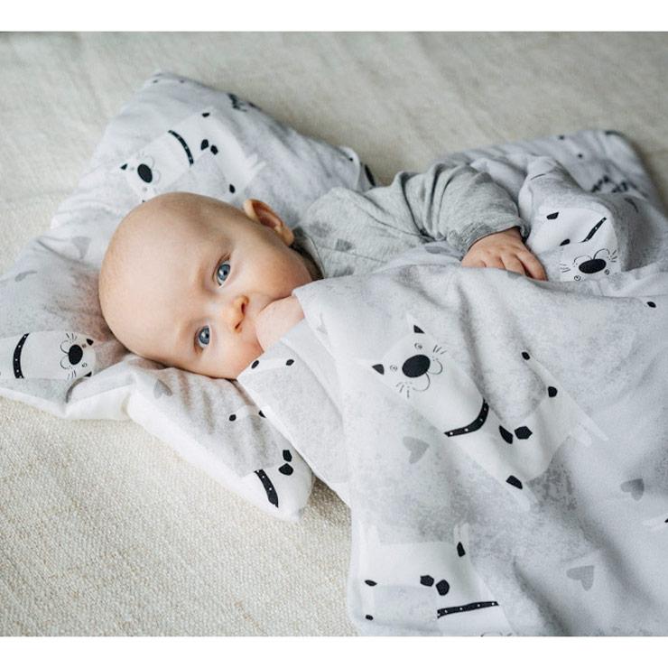 Pulp Bambu Baby täcke & kudde, Dogs - Elliotti