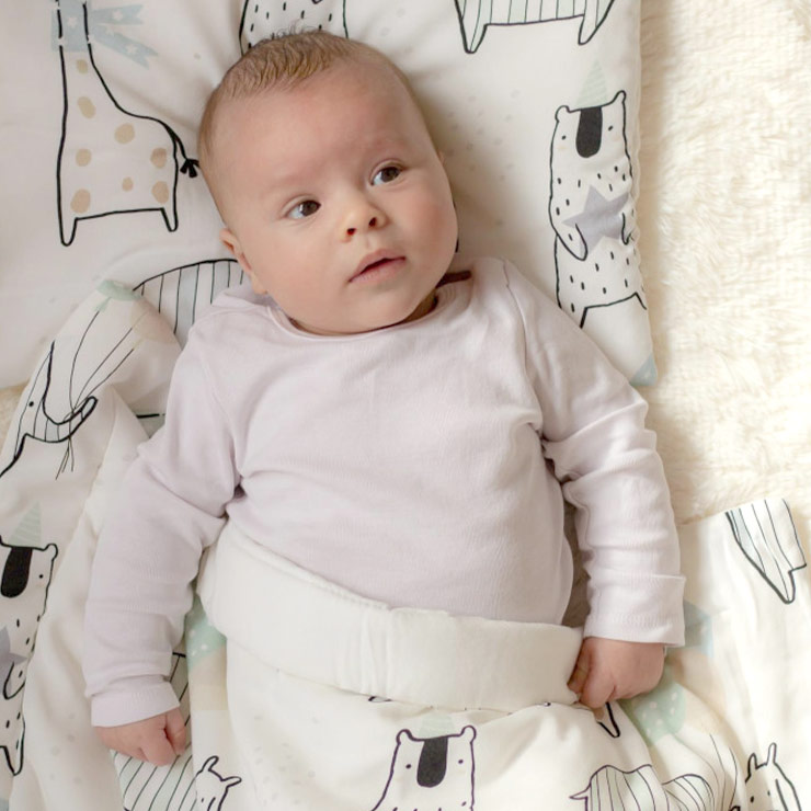 Pulp Bambu Baby täcke & kudde, Giraffes - Elliotti
