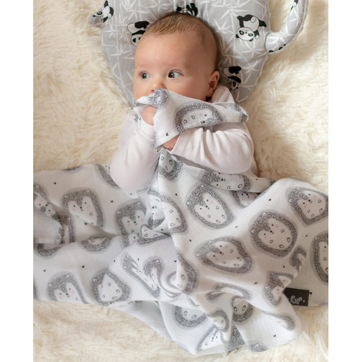 Pulp Bambu Swaddle filt + Snuttefilt, Hedgehodge - Elliotti
