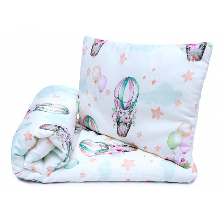 Pulp Bambu Baby täcke & kudde, Balloons - Elliotti