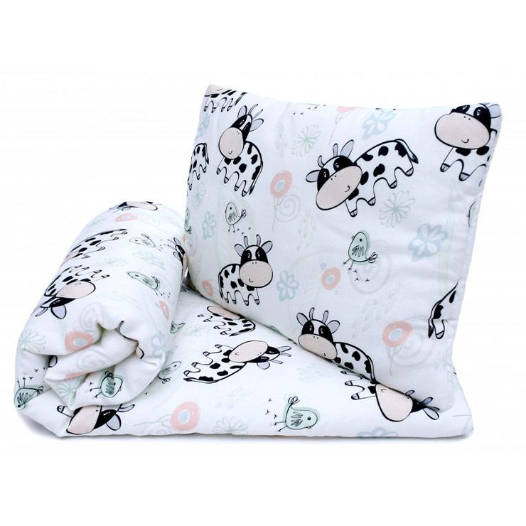Pulp Bambu Baby täcke & kudde, Cows - Elliotti
