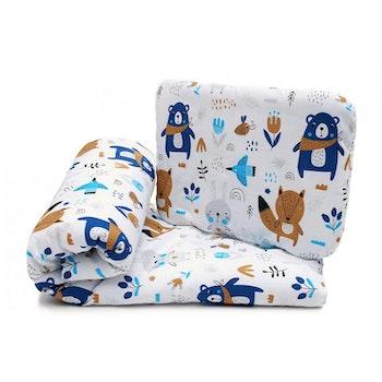 Pulp Bomull Baby täcke och kudde, Animals