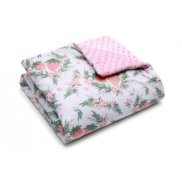 Pulp Minky fleece täcke, Strawberries