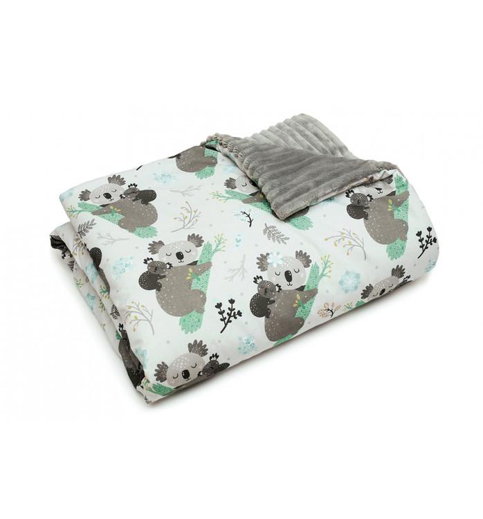 Pulp Minky fleece filt, Koala bear - Elliotti