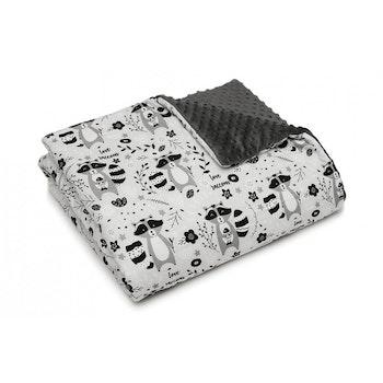 Pulp Minky fleece täcket, Raccoons