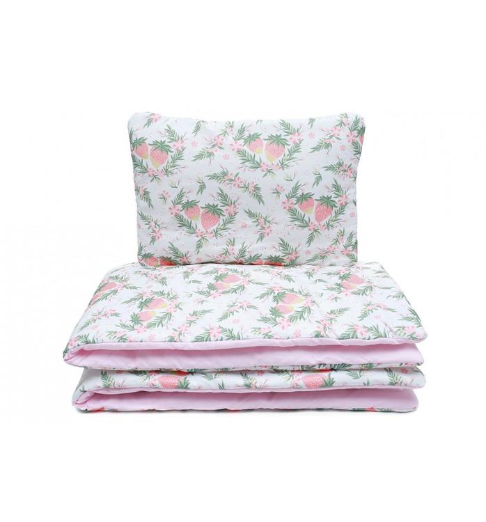 Pulp Baby täcke och kudde i bomull, Strawberry - Elliotti
