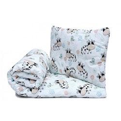 Pulp Eco Bomull Baby täcke och kudde, Cow