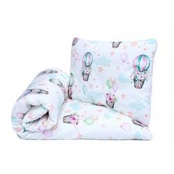 Pulp Eco Bomull Baby täcke och kudde, Balloons