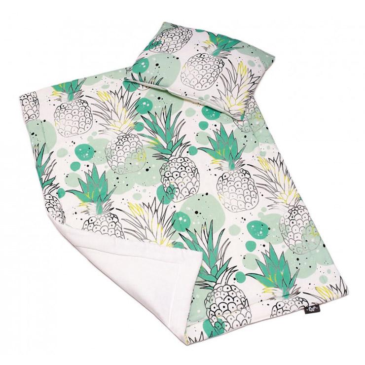 Pulp Bambu Baby täcke & kudde, Pineapple - Elliotti.se