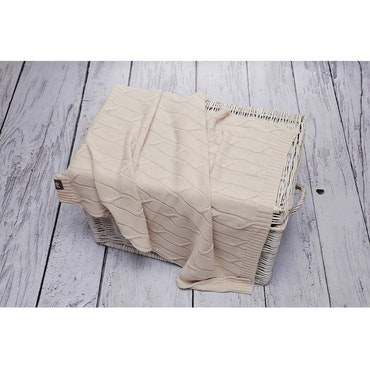 Pulp Baby filt i Eco bomull, beige